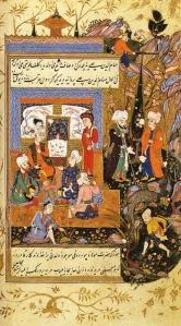 Rumi con sus discípulos