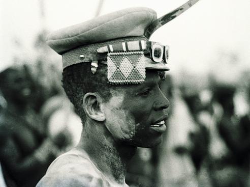 Nuba Tribesman, Wrestling festival El Taice Nuba Mountains Sudan