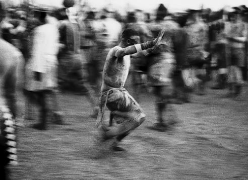 The Winner of wrestling bout. Wrestling festival El Taice Nuba Mountains Sudan