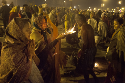 """""""Arati puja"""" is the name of ceremony with fire before the baths, in Gange river, early in the morning and before evening."""