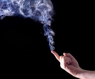 (CC BY 2.0) kev-shine - finger point smoke