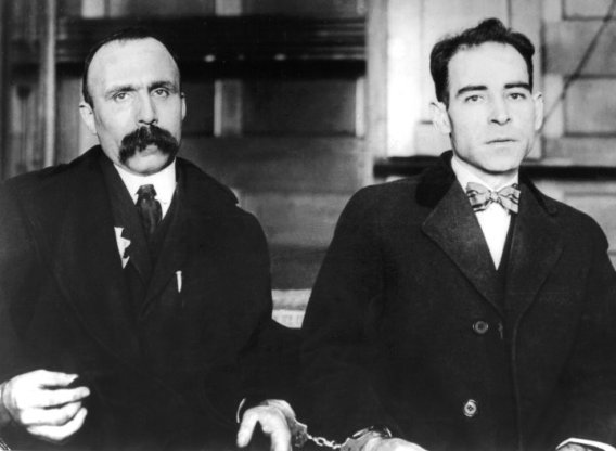 Sacco and Vanzetti after they have been arrested