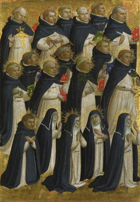 Fra Angelico, c.1400-1455; The Dominican Blessed: Outer Left Pilaster Panel