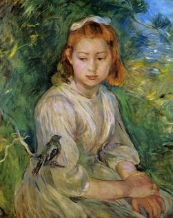 Berthe-Morisot-Young-Girl-with-a-Bird